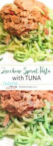 Zucchini Spiral Pasta with Tuna