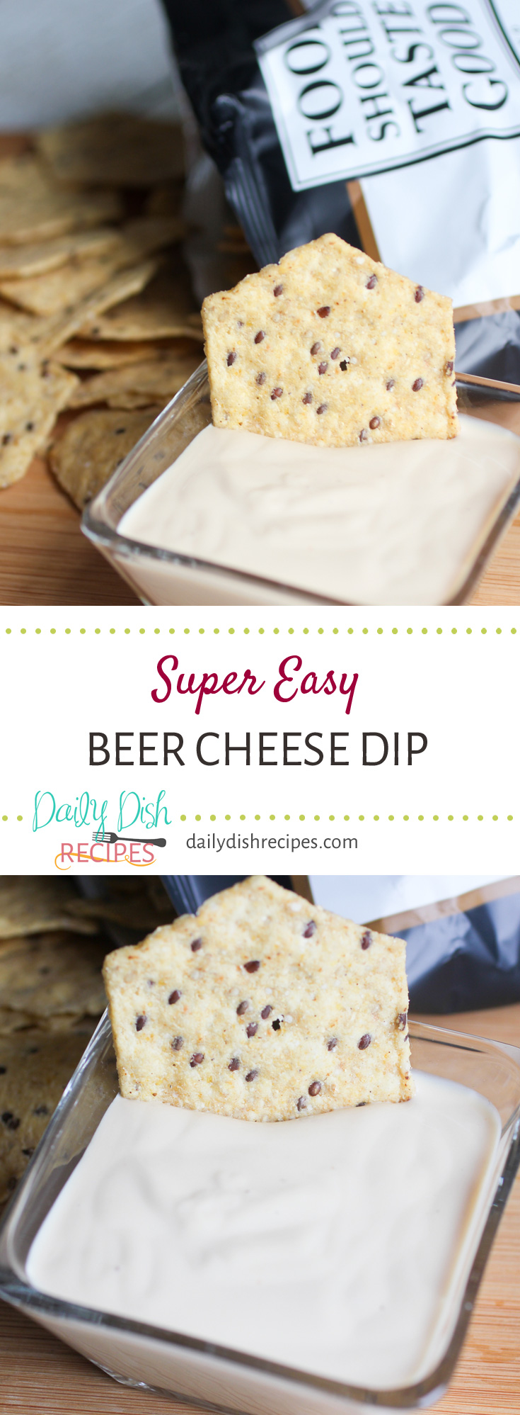 Want an easy dip for just about any party? This Super Easy Beer Cheese Dip goes GREAT on gameday or any other fun gathering with all your favorite people! This one only has three ingredients and is so delicious!