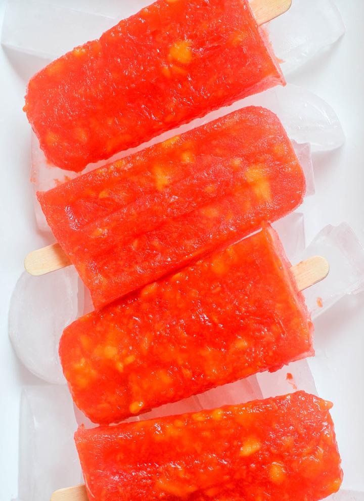 Strawberry Mango Margarita Popsicles