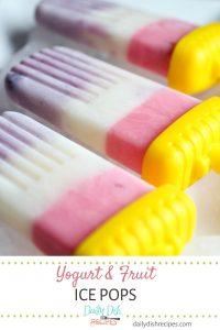 Yogurt and Fruit Ice Pops