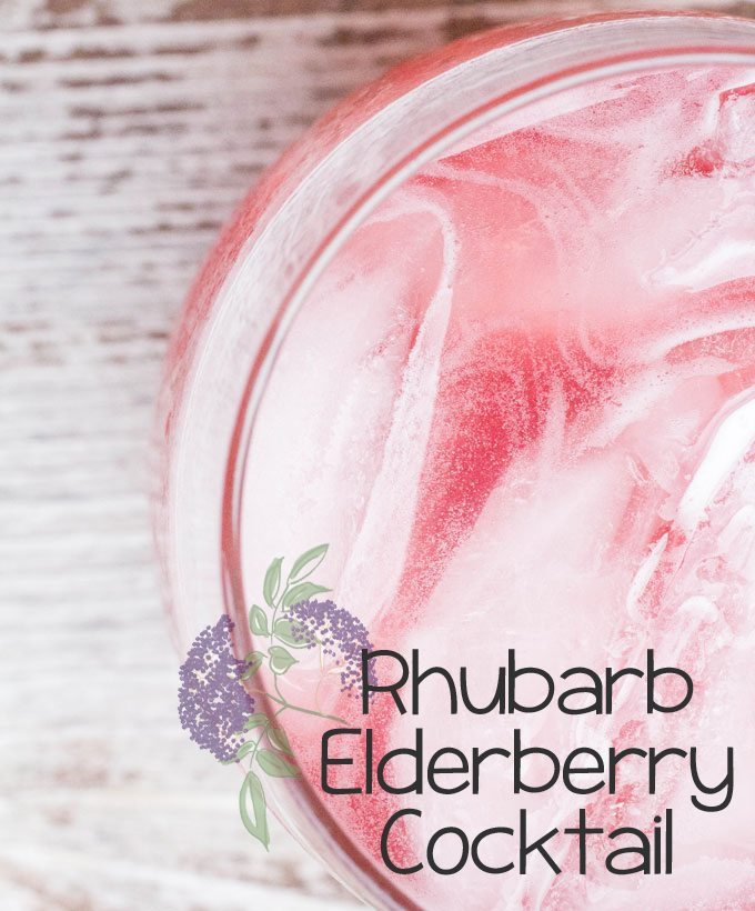 Rhubarb Elderberry Cocktail