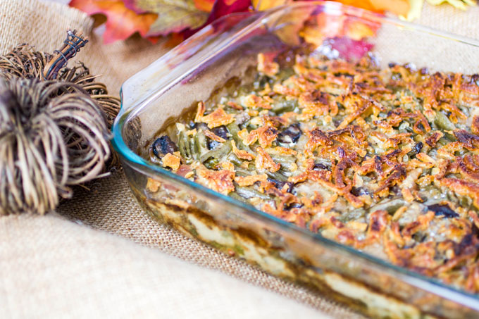 Gouda, Bacon and Portabella Mushroom Green Bean Casserole #ThisIsMyTwist
