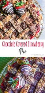 Chocolate Covered Strawberry Pie