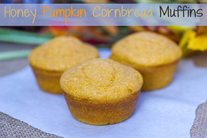 Honey Pumpkin Cornbread Muffins