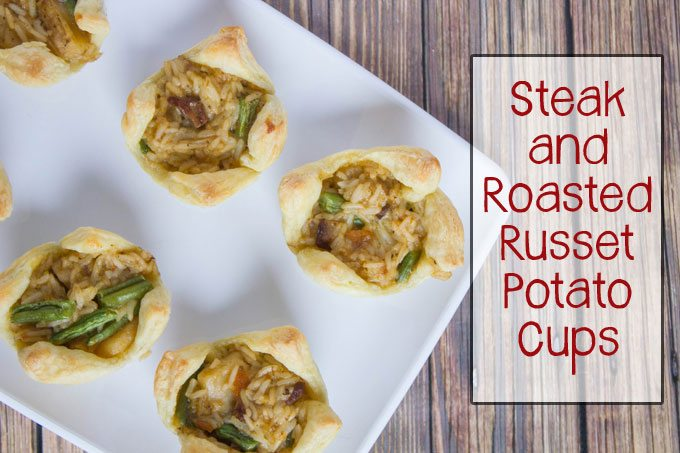 Steak and Roasted Russet Potato Cups