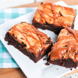 Caramel Pumpkin Spice Marshmallow Brownies
