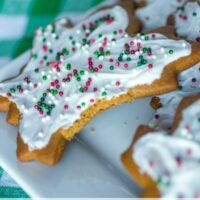 Frosted Ginger Spice Cookies