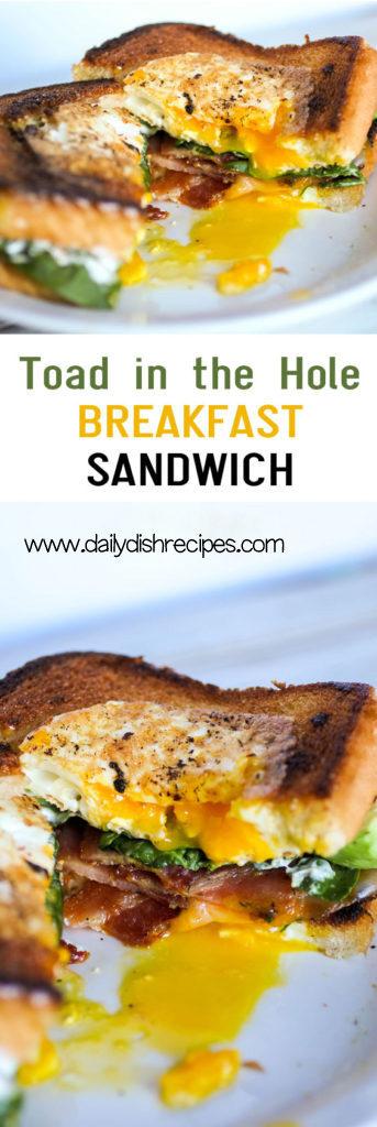 Toad in the Hole Breakfast Sandwich