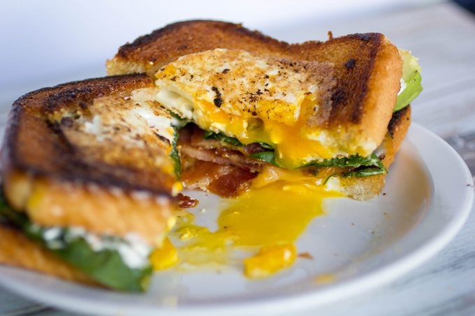 Toad in the Hole Breakfast Sandwiches