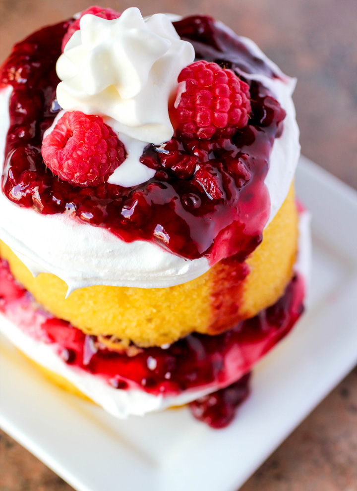 Raspberry Shortcake Double Stacks