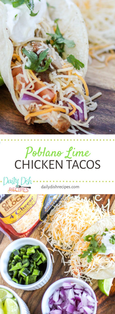 Poblano Lime Chicken Tacos