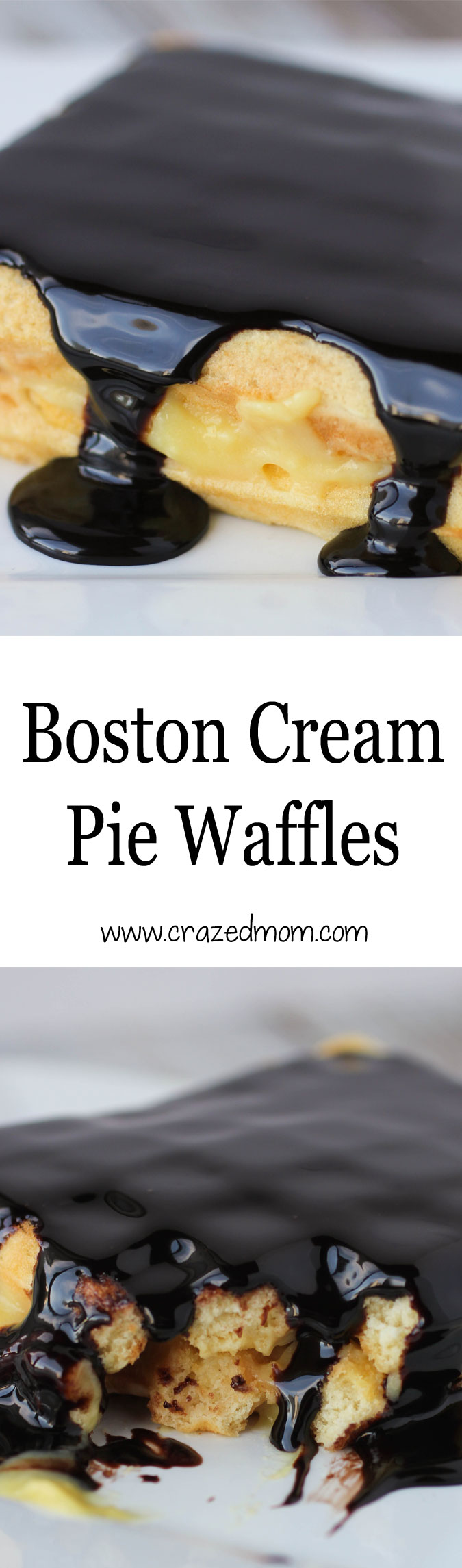 Boston Cream Pie Waffles