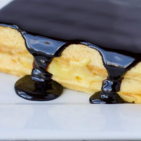 Boston Cream Pie Waffles