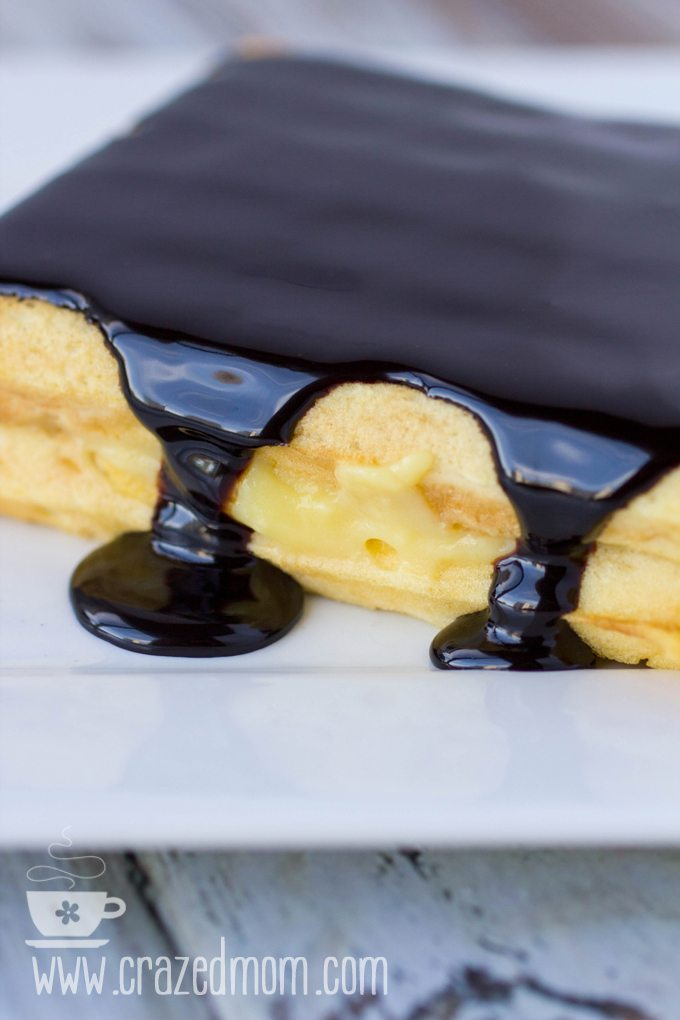 Boston Cream Pie Waffles #SundaySupper