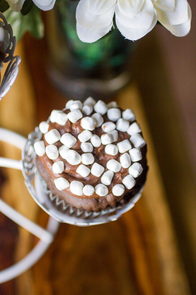 Chocolate Marshmallow Cupcakes #SundaySupper