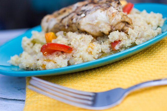 Ranch Grilled Chicken with Grilled Veggies and Quinoa
