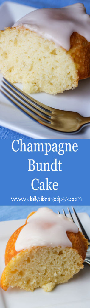 Delicate, moist Champagne Bundt Cake is an elegant ending to a nice dinner or the perfect afternoon slice with a hot cup of tea. Either way, you'll be hooked from the first bite.