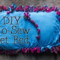 DIY No-Sew Pet Bed