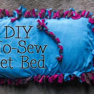 DIY No-Sew Pet Bed