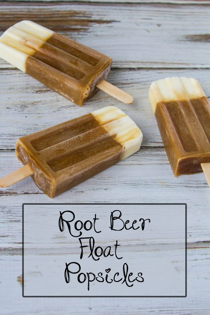 Root Beer Float Popsicles - Two Ingredients