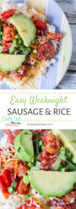 Easy Weeknight Sausage and Rice Dinner