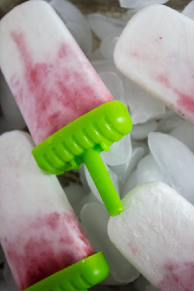 Strawberry Coconut Ice Pops #IcePop