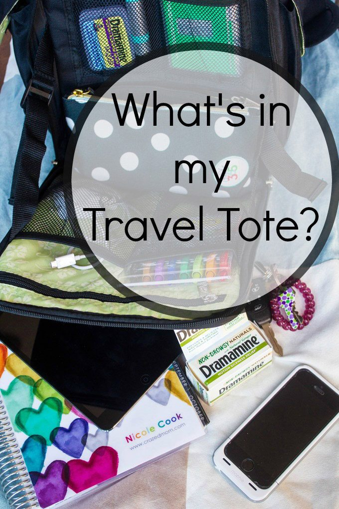 What is in my travel tote