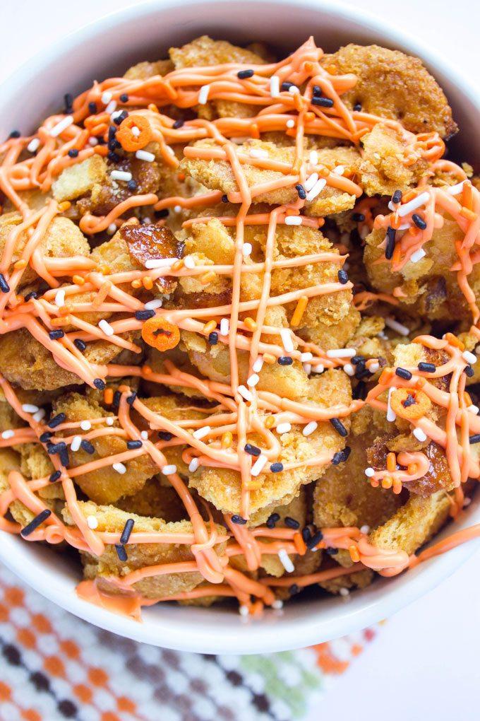 Caramel Walnut Ritz Cracker Bites