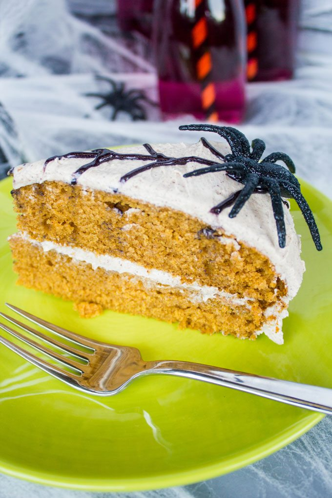 Cinnamon Frosted Pumpkin Spice Layer Cake #SundaySupper
