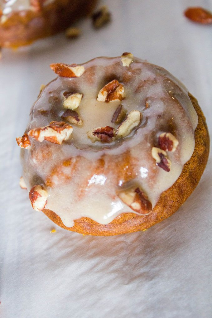 Mini Pumpkin Cakes with Spiced Buttermilk Glaze