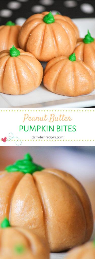 Peanut Butter Pumpkin Bites