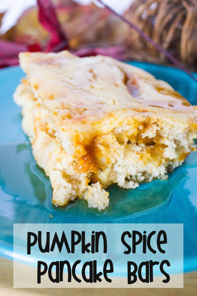 Easy Pumpkin Spice Pancake Bars
