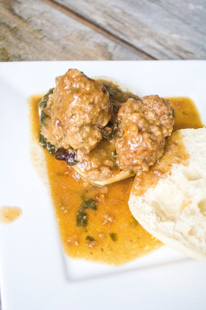 Crockpot Beefy Meatballs