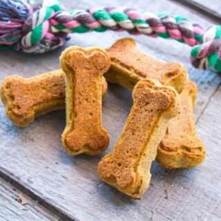 Pumpkin Peanut Butter Dog Treats - Wheat-Free