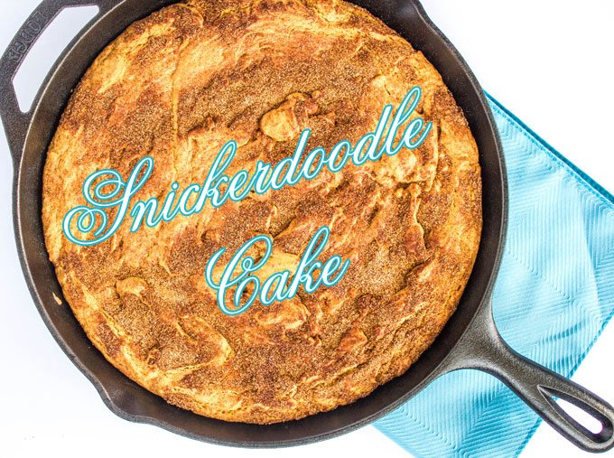 Snickerdoodle Skillet Cake