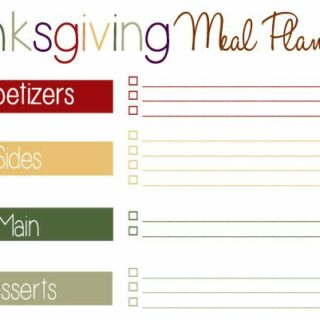 Thanksgiving Meal Plan Printable + Tons of Recipes