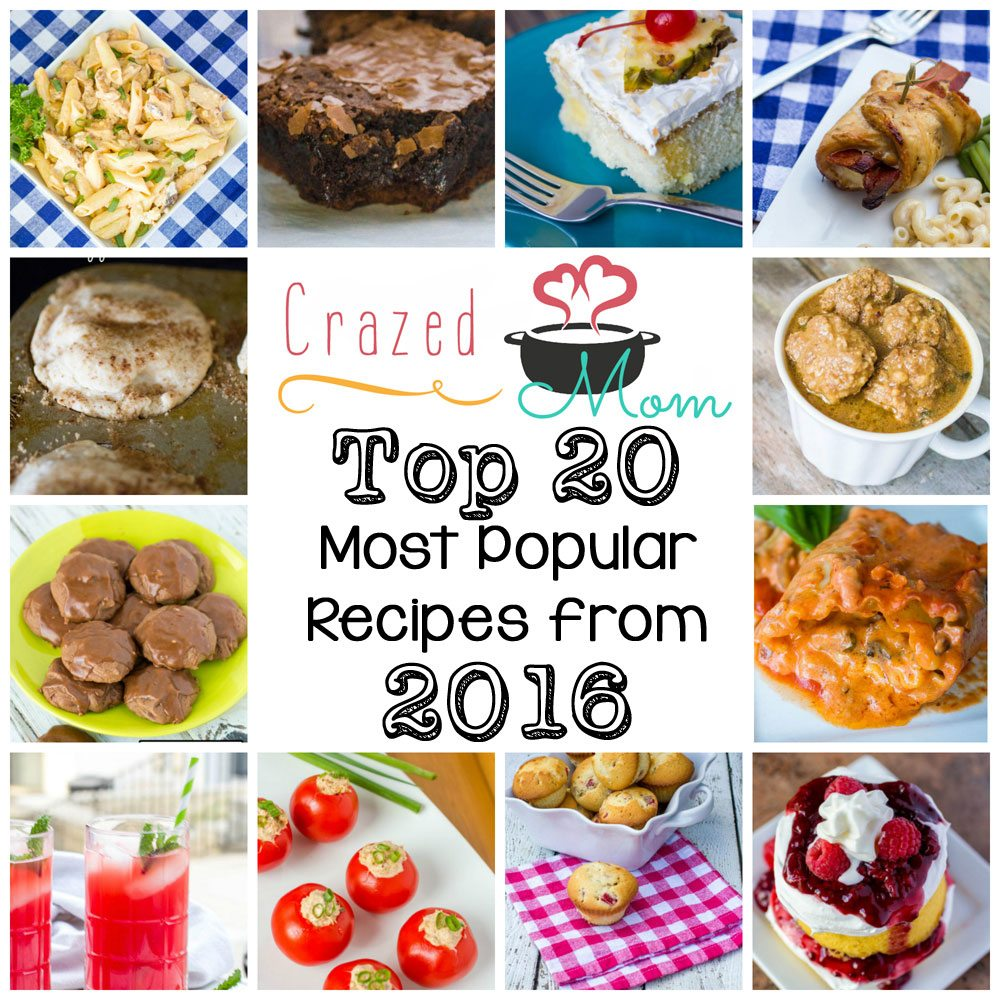 Top 20 Most Popular Recipes from 2016
