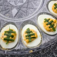 Chipotle Bacon Jalapeno Deviled Eggs for the Big Game!