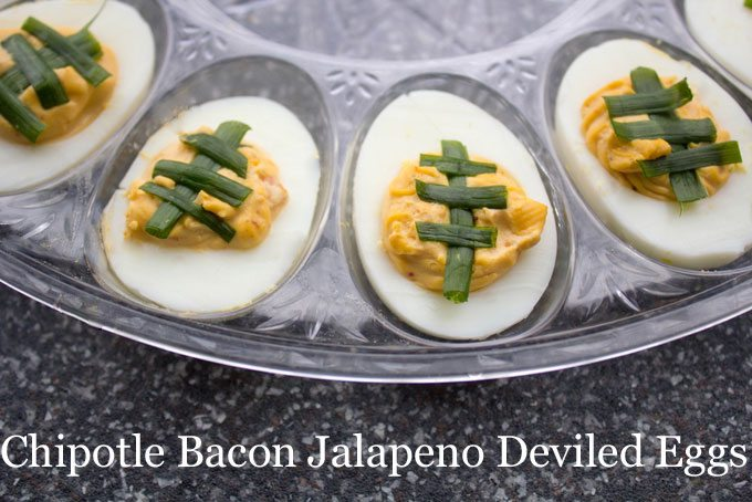 Chipotle Bacon Jalapeno Deviled Eggs
