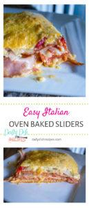 Easy Italian Oven Baked Sliders