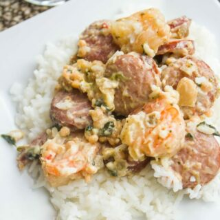 Creamy Shrimp and Sausage Skillet