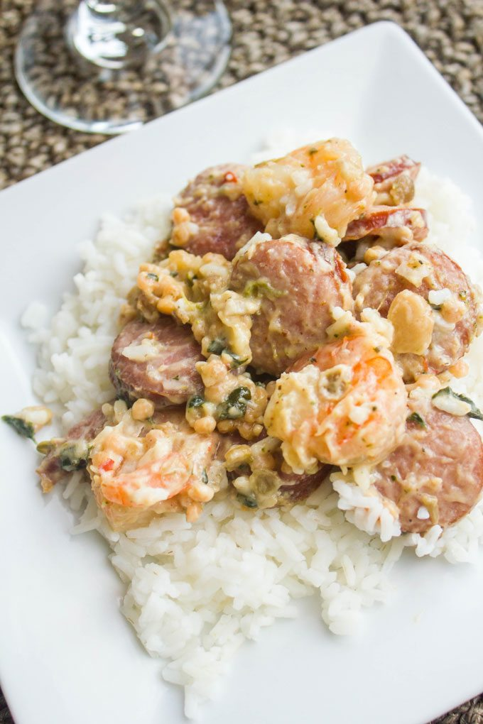Creamy Shrimp and Sausage Skillet