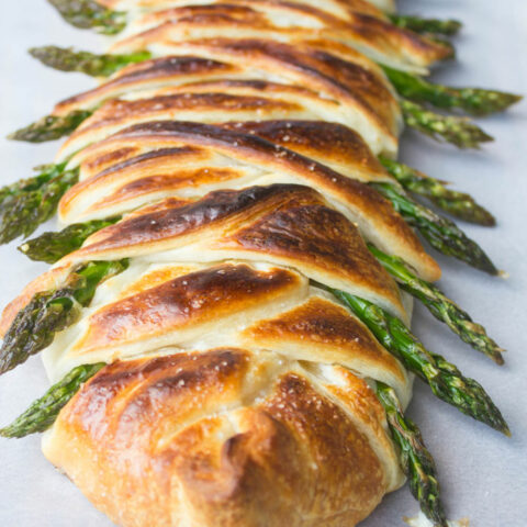 Asparagus Ham and Swiss Danish Braid