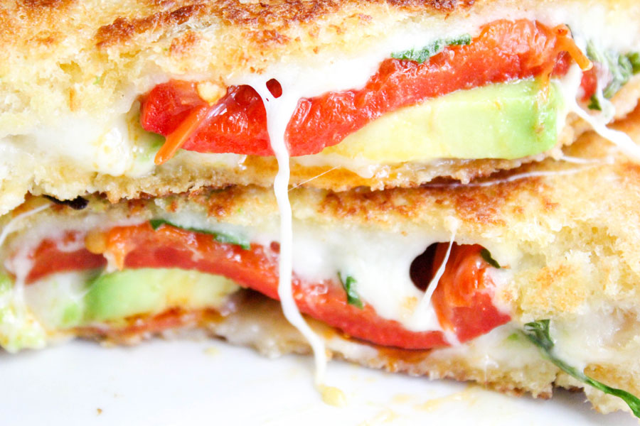 Avocado Bacon Gourmet Grilled Cheese Sandwich