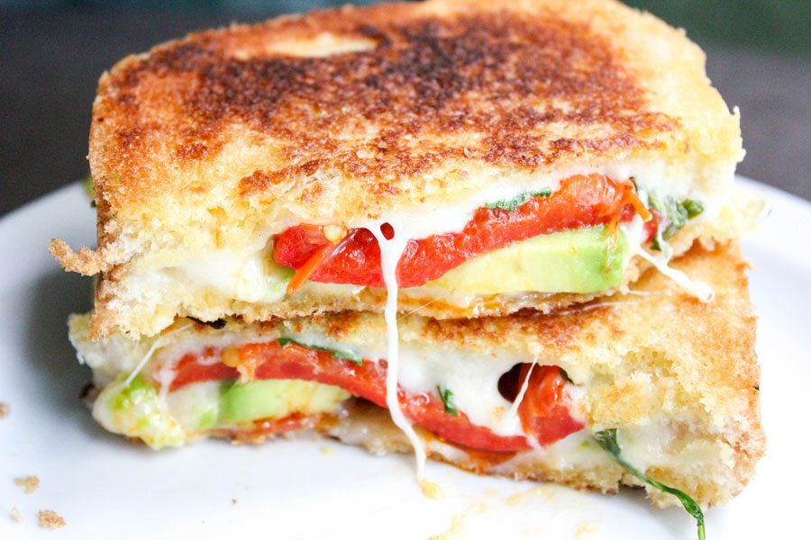 Avocado Bacon Gourmet Grilled Cheese Sandwich | Daily Dish ...