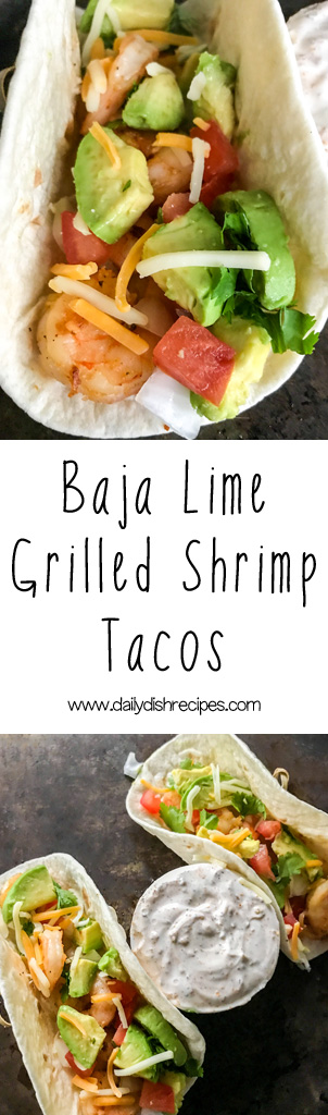 These tangy, spicy Baja Lime Grilled Shrimp Tacos are the perfect summer meal, light but filling - deliciously perfect anytime!