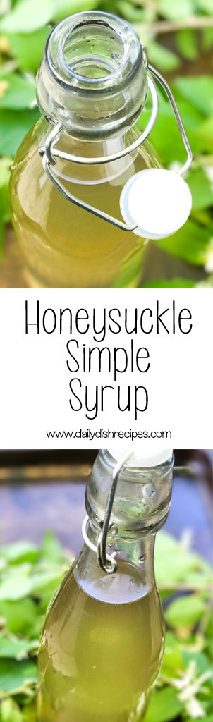 Honeysuckle Simple Syrup