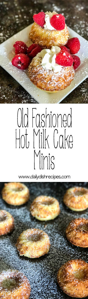 Old Fashioned Hot Milk Cake Minis