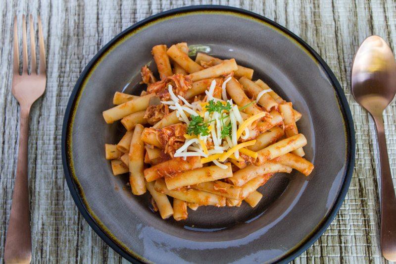 Southwestern Spicy Chicken Ziti Pasta