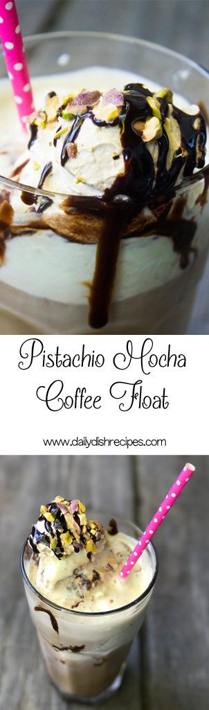 Pistachio Mocha Coffee Floats